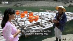 BBC news(イギリス)に観光筏下りが取り上げられました